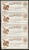 Obsoletes By State:Nevada, Carson City, NV- Carson City Savings Bank Certificate of Deposit Uncut Sheet of Four. ...