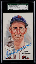 Baseball Cards:Singles (1970-Now), 1981 Ted Williams Signed Perez-Steele Postcard SGC Authentic....