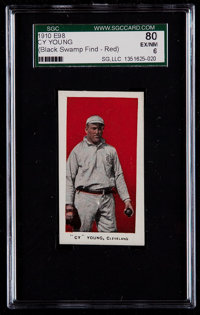 """1910 E98 """"Set of 30"""" Cy Young, Red (Black Swamp) SGC 80 EX/NM 6"""