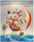 Memorabilia:Disney, Carl Barks Sailing the Spanish Main Limited Edition Lithograph Print #164/245 (Another Rainbow, 1982).... (Total: 2 Items)