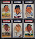 Baseball Cards:Lots, 1980-91 Perez-Steele Signed Postcard Collection (6) With Berra & Koufax....