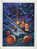 "Original Comic Art:Covers, Keith Birdsong Star Trek #62 ""Death Count"" Paperback NovelCover Painting Original Art (Pocket Books, 1992)...."