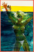 Original Comic Art:Covers, Men's Adventure Novel Cover Painting Original Art (undated)....