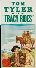 """Movie Posters:Western, Tracy Rides (Screencraft, R-Late 1930s). Three Sheet (41"""" X 78"""").Western.. ..."""