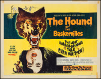 """The Hound of the Baskervilles (United Artists, 1959). Half Sheet (22"""" X 28"""") Style B. Mystery"""