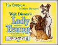 """Movie Posters:Animation, Lady and the Tramp (Buena Vista, R-1962). Half Sheet (22"""" X 28""""). Animation.. ..."""