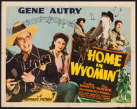 """Home in Wyomin' & Other Lot (Republic, 1942). Half Sheet (22"""" X 28""""), One Sheet (27"""" X 41"""")..."""
