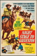 "Movie Posters:Western, Night Stage to Galveston (Columbia, 1952). One Sheet (27"" X 41""). Western.. ..."
