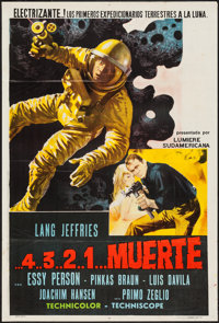 "Mission Stardust (Times, 1969). Argentinean One Sheet (29"" X 43"") Original Title: ...4...3...2...1...Morte. Sc..."