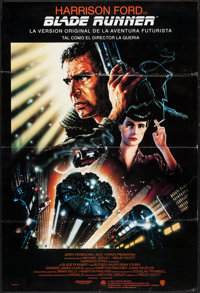 """Blade Runner (Warner Brothers, R-1992). Spanish Language Director's Cut One Sheet (27"""" X 40"""") SS. Science Fict..."""