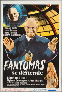 "Fantomas (20th Century Fox, 1964). Argentinean Poster (29"" X 43""). Foreign"