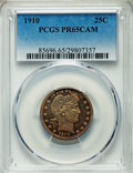 Proof Barber Quarters, 1910 25C PR65 Cameo PCGS....