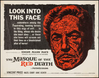 """The Masque of the Red Death (American International, 1964). Half Sheet (22"""" X 28""""). Horror"""