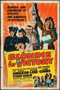 "Blondie for Victory (Columbia, 1942). One Sheet (27"" X 41""). Comedy"