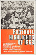 """Movie Posters:Sports, Football Highlights of 1963 (Universal, 1963). One Sheet (27"""" X 41""""). Sports.. ..."""