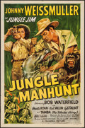 "Movie Posters:Adventure, Jungle Manhunt (Columbia, 1951). One Sheet (27"" X 41""). Adventure....."