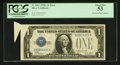 Error Notes:Foldovers, Fr. 1601 $1 1928A Silver Certificate. PCGS About New 53.. ...