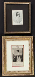 Books:Prints & Leaves, Two engraved plates; J. Cochrain after the painting by G. HayterEsq., Victoria at Age 18, 1837; reproduced from t... (Total:2 Items)