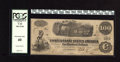 Confederate Notes:1862 Issues, T40 $100 1862. Bold signatures adorn this lightly circulated issue.PCGS Extremely Fine 40....