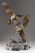 Texas, CLARK BRONSON (b. 1939). Eagle's Conquest, 1980. Bronze.31-1/4 x 24 x 17 inches (79.4 x 61.0 x 43.2 cm). Signed, dated,...
