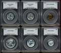 Certified Modern Proof Sets, 1942 Proof Set PR63 to PR66 PCGS.... (Total: 6 coins)