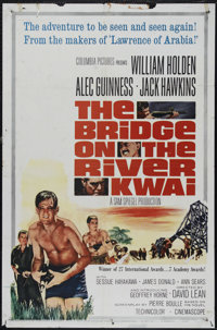 """The Bridge On The River Kwai (Columbia, R-1963). One Sheet (27"""" X 41""""). War. Directed by David Lean. Starring..."""