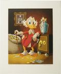 "Original Comic Art:Miscellaneous, Carl Barks - ""The Money Lender"" Lithograph #4/200 (Another Rainbow,1983). ..."