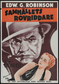"""Movie Posters:Crime, Bullets or Ballots (Warner Brothers, 1936). Swedish Poster (27.5"""" X39.5""""). Action. Directed by William Keighley. Starring E..."""