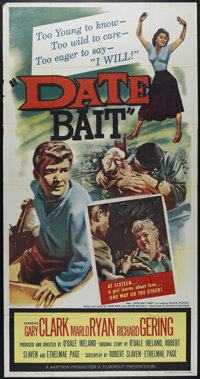 "Date Bait (Film Group, Inc., 1960). Three Sheet (41"" X 81""). Drama. Directed by O'Dale Ireland. Starring Danny..."