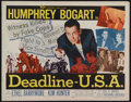 "Movie Posters:Crime, Deadline, U.S.A. (20th Century Fox, 1952). Half Sheet (22"" X 28"").Crime Drama. Directed by Richard Brooks. Starring Humphre..."
