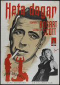 """Movie Posters:Film Noir, Dead Reckoning (Columbia, 1947). Swedish Poster (27.5"""" X 39.5"""").Film Noir. Directed by John Cromwell. Starring Humphrey Bog..."""