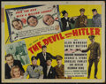 "Movie Posters:Comedy, The Devil with Hitler (United Artists, 1942). Half Sheet (22"" X 28""). Comedy. Directed by Gordon M. Douglas. Starring Alan M..."