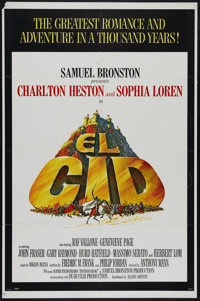 "El Cid (Allied Artists, 1961). One Sheet (27"" X 41""). Historical Drama. Directed by Anthony Mann. Starring Cha..."
