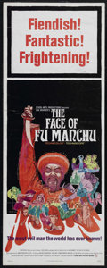 "Movie Posters:Crime, The Face of Fu Manchu (Seven Arts Pictures, 1965). Insert (14"" X36""). Horror Mystery. Directed by Don Sharp. Starring Chris..."