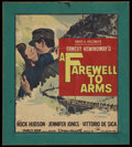 "Movie Posters:Drama, A Farewell To Arms (Paramount, 1932). Window Card (12.5"" X 14.5""). War. Directed by Charles Vidor. Starring Rock Hudson, Jen..."
