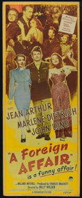 "Movie Posters:Comedy, A Foreign Affair (Paramount, 1948). Insert (12.5"""" X 34.5""). Comedy. Directed by Billy Wilder. Starring John Lund, Marlene D..."