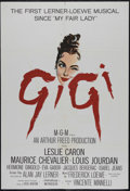 "Movie Posters:Academy Award Winner, Gigi (MGM, 1958). One Sheet (27"" X 39.5""). Musical Romance. Directed by Vincente Minnelli. Starring Leslie Caron, Maurice Ch..."