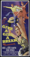 """Movie Posters:Musical, Give a Girl a Break (MGM, 1953). Three Sheet (41"""" X 81""""). Musical. Directed by Stanley Donen. Starring Marge Champion, Gower..."""