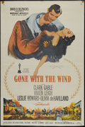 "Movie Posters:Academy Award Winner, Gone With the Wind (MGM, R-1961). Re-release One Sheet (27"" X 41"").Drama. Directed by Victor Fleming. Starring Clark Gable,..."