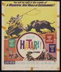 "Movie Posters:Adventure, Hatari! (Paramount, 1962). Window Card (14"" X 16.75"").Adventure...."