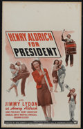 """Movie Posters:Comedy, Henry Aldrich for President (Paramount, 1941). Window Card (14"""" X 22""""). Comedy. Directed by Hugh Bennett. Starring Jimmy Lyd..."""