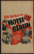 "Movie Posters:War, Hotel Berlin (Warner Brothers, 1945). Window Card (14"" X 22""). Drama. Directed by John Gage and Peter Godfrey. Starring Faye..."