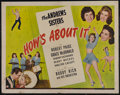 """Movie Posters:Musical, How's About It (Universal, 1943). Half Sheet (22"""" X 28""""). Musical Romance. Directed by Erle C. Kenton. Starring the Andrews ..."""