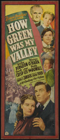 """Movie Posters:Drama, How Green Was My Valley (20th Century Fox, 1941). Insert (13"""" X 35""""). Drama. Directed by John Ford. Starring Walter Pidgeon,..."""