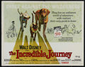 "Movie Posters:Adventure, The Incredible Journey (Buena Vista, R-1969). Half Sheet (22"" X28""). Family. Directed by Fletcher Markle. Starring Bodger t..."
