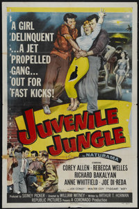 "Juvenile Jungle (Republic, 1958). One Sheet (27"" X 41""). Crime. Directed by William Witney. Starring Corey All..."