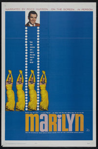 """Marilyn (20th Century Fox, 1963). One Sheet (27"""" X 41""""). Documentary. Directed by Henry Koster. Starring Maril..."""
