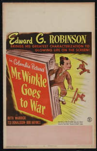 "Mr. Winkle Goes to War (Columbia, 1944). Window Card (14"" X 22""). Comedy. Directed by Alfred E. Green. Starrin..."