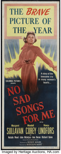 No Sad Songs for Me (Columbia, 1950)  Insert (14
