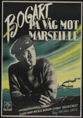 "Passage to Marseille (Warner Brothers, 1944). Swedish Poster (27"" X 39""). War Drama. Directed by Michael Curti..."